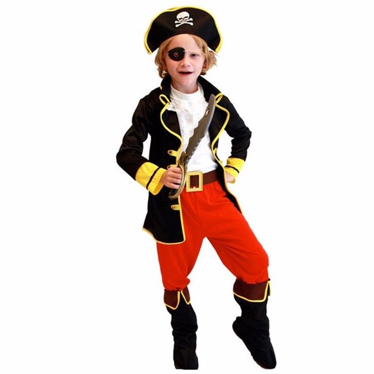 Kids Boys Pirate Costume Cosplay Costumes set for Boys Children Christmas New Year Purim Halloween Costumes For Kids Children
