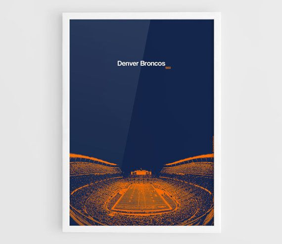 Denver Broncos Sports Authority Field at Mile High A3 by NazarDes American  football Sport Poster Sport