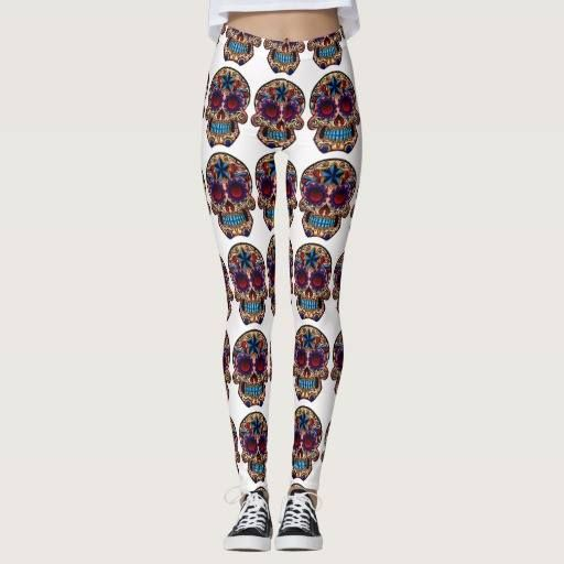 (Sugar Skull Leggings Day Of The Dead Yoga Pants) #Day #Dead #Exercise #Halloween #Running #Skull #Sugar #Yoga is available on Funny T-shirts Clothing Store   http://ift.tt/2gLOyZG