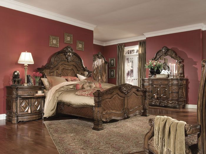 homefurniture nyc   Aico Windsor Court Collection King Mansion Bed    2 317 00  http. 43 best Stuff to Buy images on Pinterest   3 4 beds  Bedroom sets