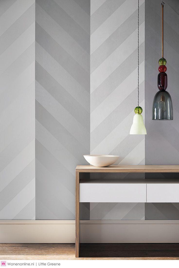 25 beste idee n over gestreept behang op pinterest streep behang gestreepte muren en - Van deco ideeen ...