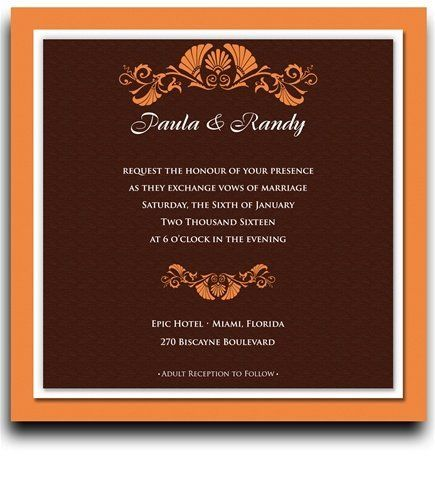 170 Square Wedding Invitations - Vizcaya Copper by WeddingPaperMasters.com. $445.40. Now you can have it all! We have created, at incredible prices & outstanding quality, more than 300 gorgeous collections consisting of over 6000 beautiful pieces that are perfectly coordinated together to capture your vision without compromise. No more mixing and matching or having to compromise your look. We can provide you with one piece or an entire collection in a one stop shoppin...