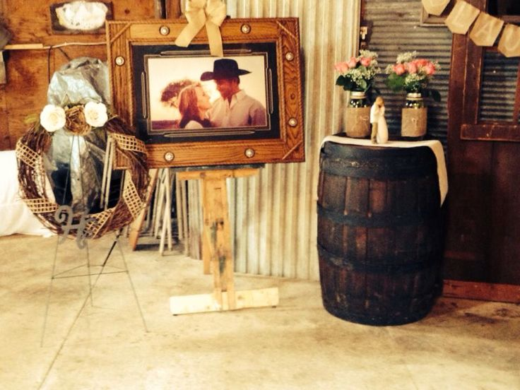 Rustic country western bridal shower