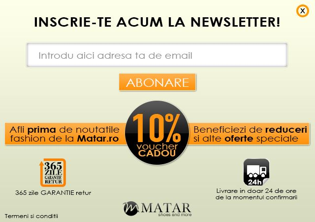 Newsletter signup popup ad.