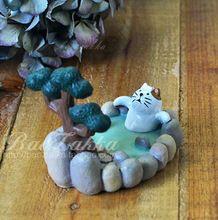 Resina gatos soporte soporte para teléfono estilo de japón phoenix sofá viaje Zakka spa metros adornos phonde soporte gato perezoso Kawaii decoración del hogar