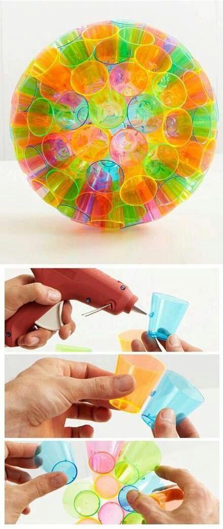 DIY Plastic Disco Globe.
