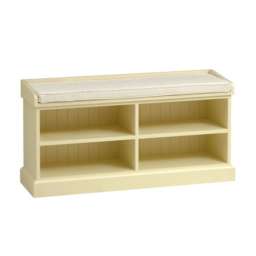 bourton painted shoe storage bench