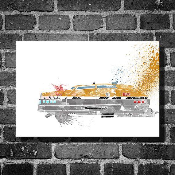 The Fifth Element Vehicle Movie Poster Minimalist Corbin Dallas Art Wall Home Decor