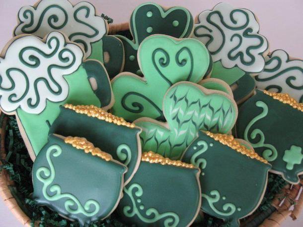 Irish Cookies.  Green Beer Cookies.  Shamrock Cookies.  Pot 'O Gold Cookies.  The Sweetest Thing, LLC - Custom Invites / Favors - Waterford - Wedding.com