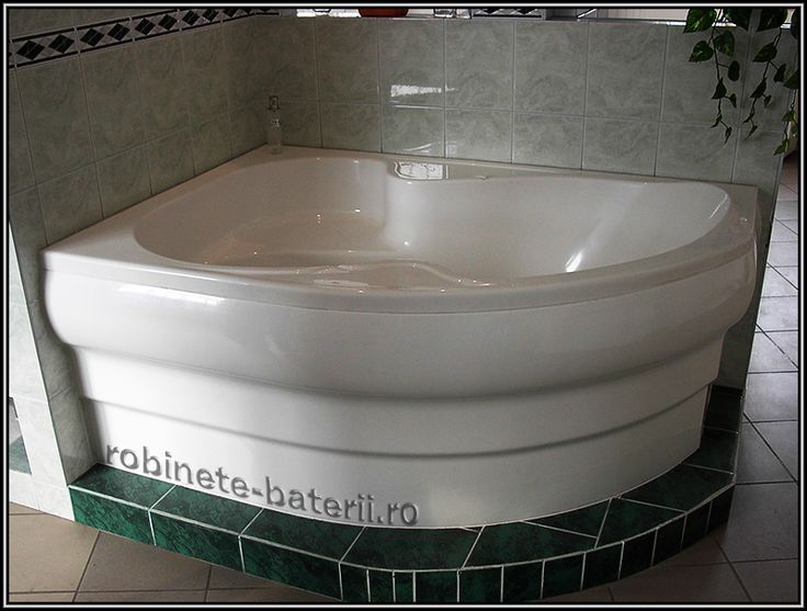Cada baie pe colt Nancy 150 x 105 cm din compozit marmura