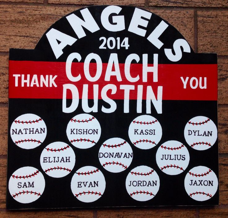 The 25+ best Baseball coach gifts ideas on Pinterest | Baseball ...