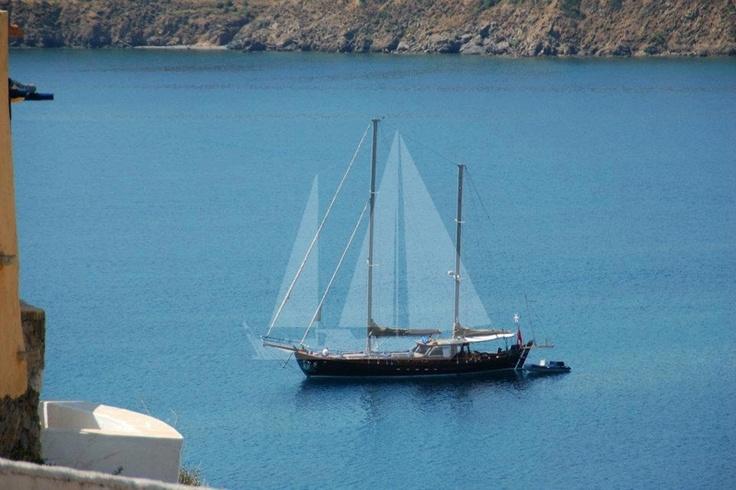 M/S Trippin luxury gulet at Leros, blue cruise, blue voyage
