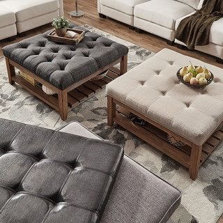 Lennon Pine Planked Storage Ottoman Coffee Table by iNSPIRE Q Artisan | Overstock.com Shopping - The Best Deals on Coffee, Sofa & End Tables