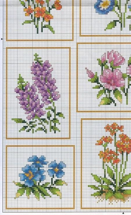 Cross-stitch Flowers, part 1.. color chart on part 3 & 4... Gallery.ru / Фото #4 - цветы - irisha-ira