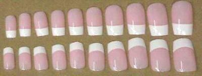 Other Nail Care: 500 Pink/White French Manicure Artificial Nails (25) 20Pks 2 Ea Size 0 To 9 BUY IT NOW ONLY: $36.99