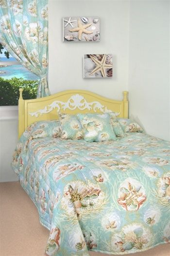 Overstock Bedroom Sets: Aqua Sea Life Bedspread And Coverlet