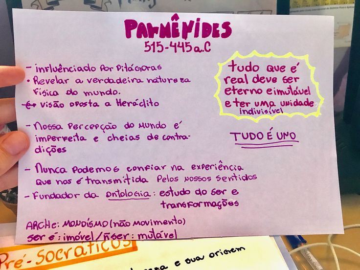 Pré-Socráticos resumo Parmênides