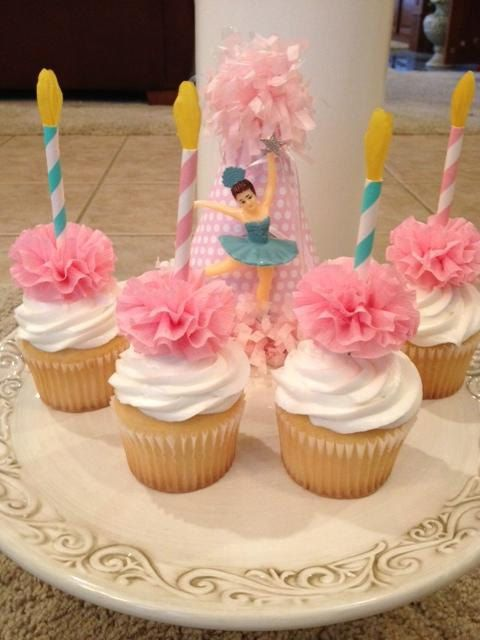 Birthday Candle Cupcake Toppers Set of Six for by JeanKnee on Etsy