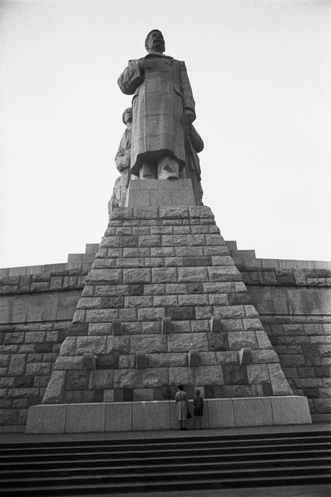 Stalin's Monument in Prague, by R.Burri (Magnum Photos), 1955.  It's gone now, but of course you know where it was- it's there the metronome is... crazy isn't it?