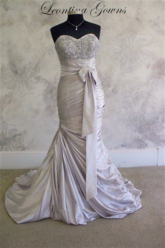 Silver wedding dress ,the most beautiful gown i've ever seen.