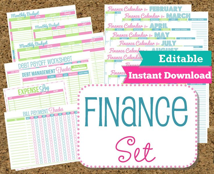 102 best printables images on pinterest printables free editable and instant download finance organizer set budget and bill pay printables 15 printables saigontimesfo
