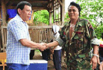Davao City Mayor Rodrigo Duterte meets with Kumander Parago