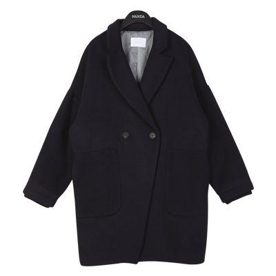 Patch Pocket Boyfriend Coat