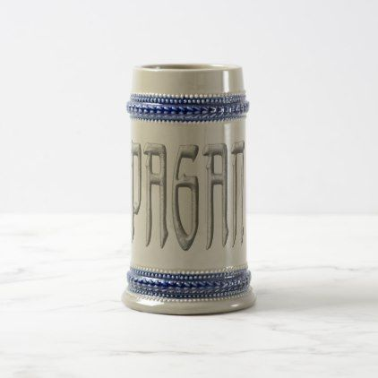 Pagan Stone beer stein - calligraphy gifts custom personalize diy create your own