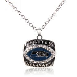 Hot Selling Sport Jewelry 2005 Seattle Seahawks Super Bowl Championship Pendants Necklace For Women & Men