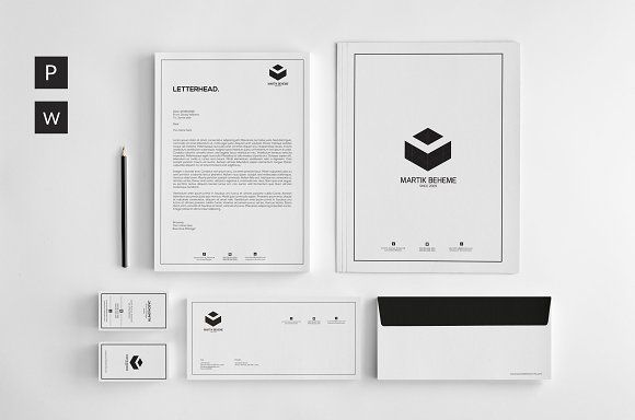Stationery Corporate Identity by UX-group on @creativemarket