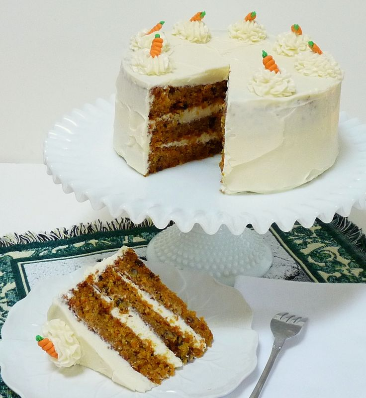 Carrot Cake from Cathy of Wives with Knives: Carrot Cakes, Frostings, Triple Layer Carrot, Sweet, Carrots, Beautiful Cakes, Cream Cheeses, Cream Cheese Frosting, Food Cakes