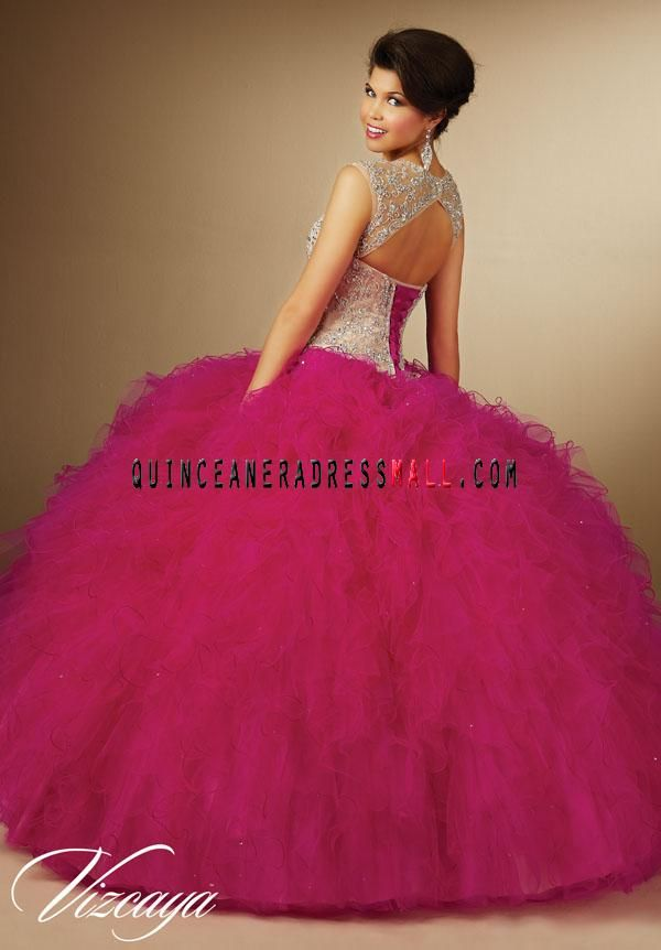 2016 fuchsia quinceanera dresses ball gown removable ...