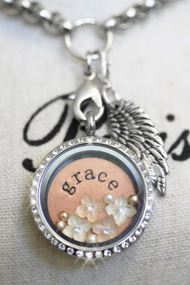 South Hill Designs silver locket with swarovski crystals. Personalize yours today!   Amy Jo Hiort Independent Artist with South Hill Designs  shdcharmed@yahoo.com