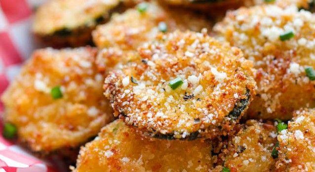 Κολοκυθάκια τηγανιτά με τραγανή κρούστα παρμεζάνας