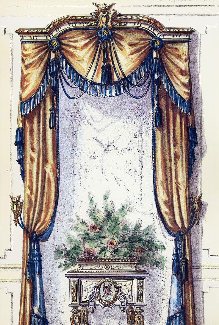 689 best images about cortinas on pinterest for Victorian window design