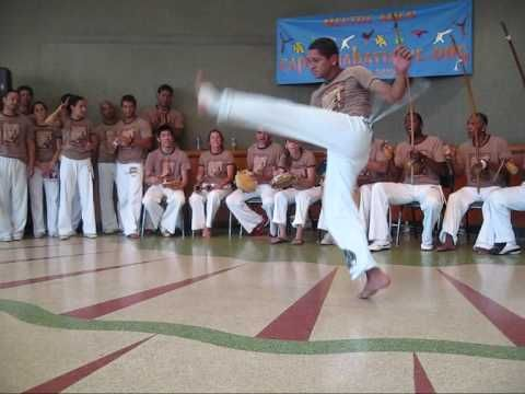 This is why I love Capoeira so much... it's fun, it's playful, it's beautiful to watch, and it burns a crapload of calories... not to mention it's great for your health and flexibility.