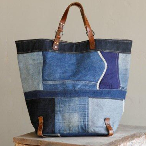 sac -- nice denim patchwork bag