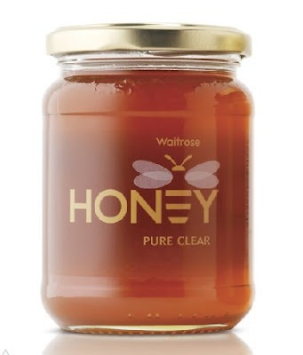 This label is executed very well; it has a sweet feeling to it. This is because the simplicity of the design; the honey bee acting as the E in honey was just enough detail to make it work. The choice of the rest of the label being transparent helped to make the design stand out more.