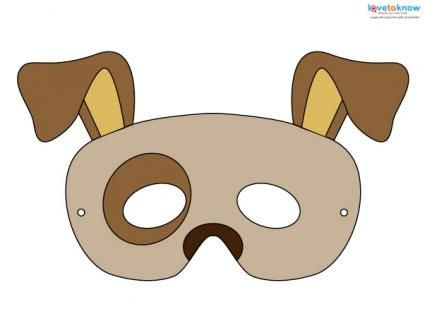 These printable Halloween masks are free! Check out this easy, cheap way to complete many costumes, including a dog and Frankenstein!