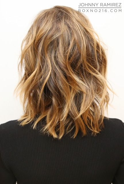 Highlights, light brown hair , waves perfect