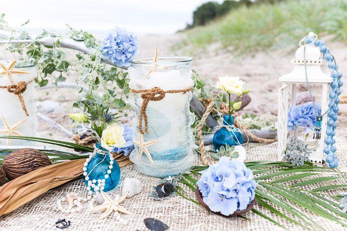 88 best ideen zu strand hochzeiten images on pinterest - Tischdeko strand ...