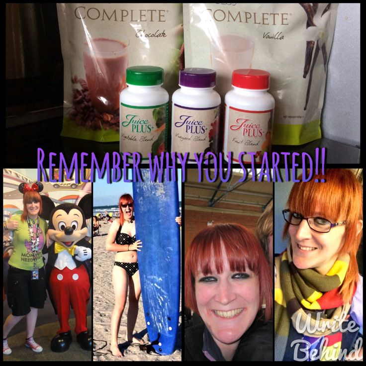 remember why you started... Juice Plus shakes and capsules are perfect for weightloss and inproving your health - these are my results!!