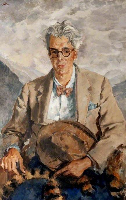 Portrait of William Butler Yeats (1865–1939), Irish Poet and Patriot, 1930 by Augustus John (British 1878–1961)