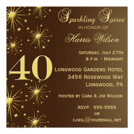 40th Birthday Dinner Ideas: 17 Best Images About 40th Invitations On Pinterest
