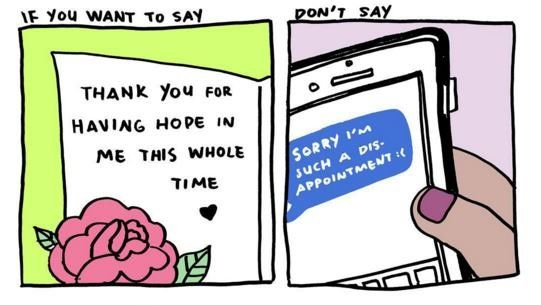 POSITIVE = THANK YOU  NEGATIVE - saying SORRY in a way that puts YOU in a bad light.