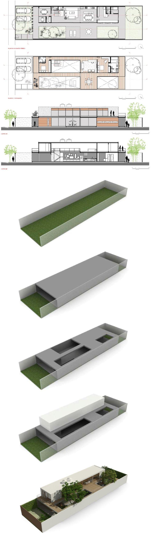 Casa Jardins (Casa 10x38) / CR2 Arquitetura #plan #section #presentation #diagram @clarareynaldo