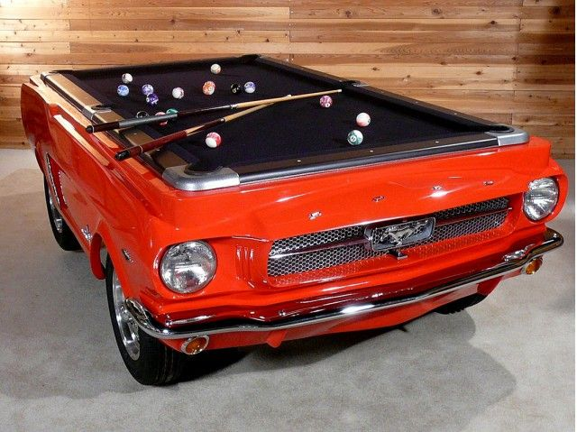 Mustang Pool Table. Bring your Barbies, your cassettes.... I have tequila and mixer, we'll play all night :)