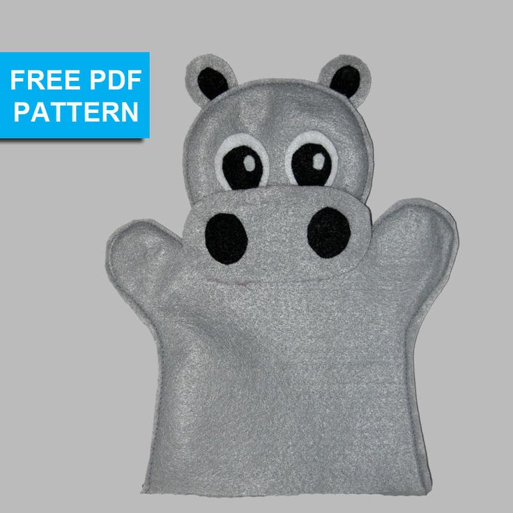 Make your own felt hippo hand puppet with our free pattern.