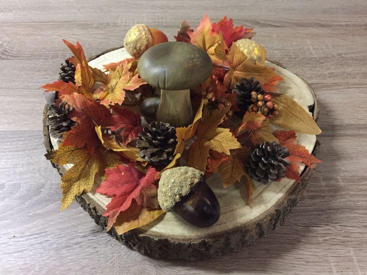 Herfststukje gemaakt met spulletjes van de Action.