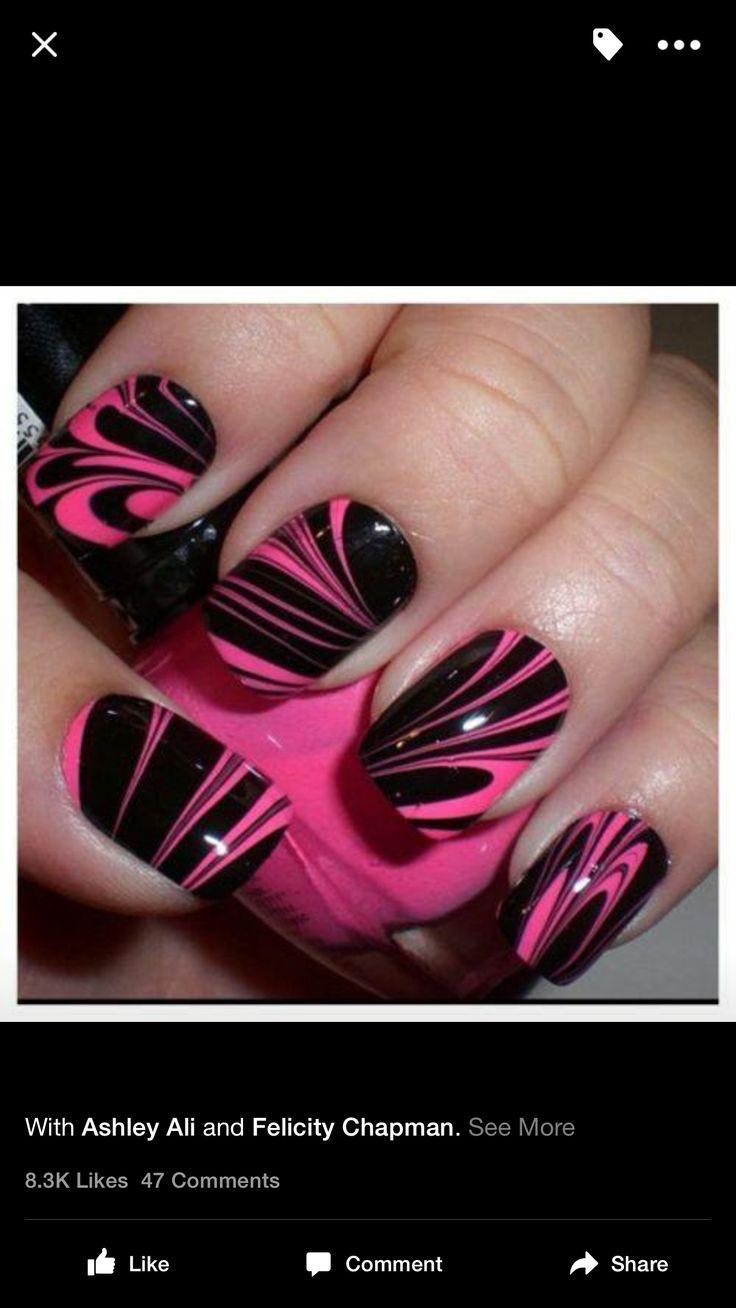 I love pink & black together.